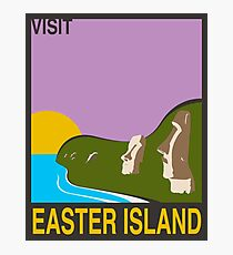 Visit EASTER ISLAND Travel Poster Photographic Print