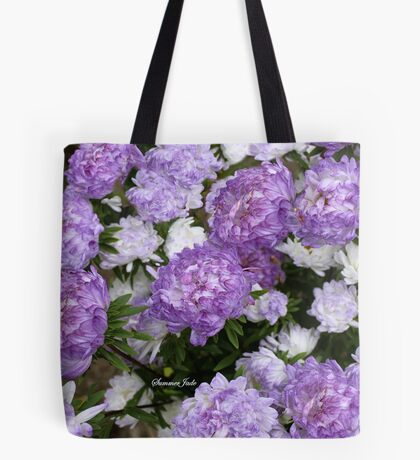 Everlastings ~ Purple Strawflowers Tote Bag