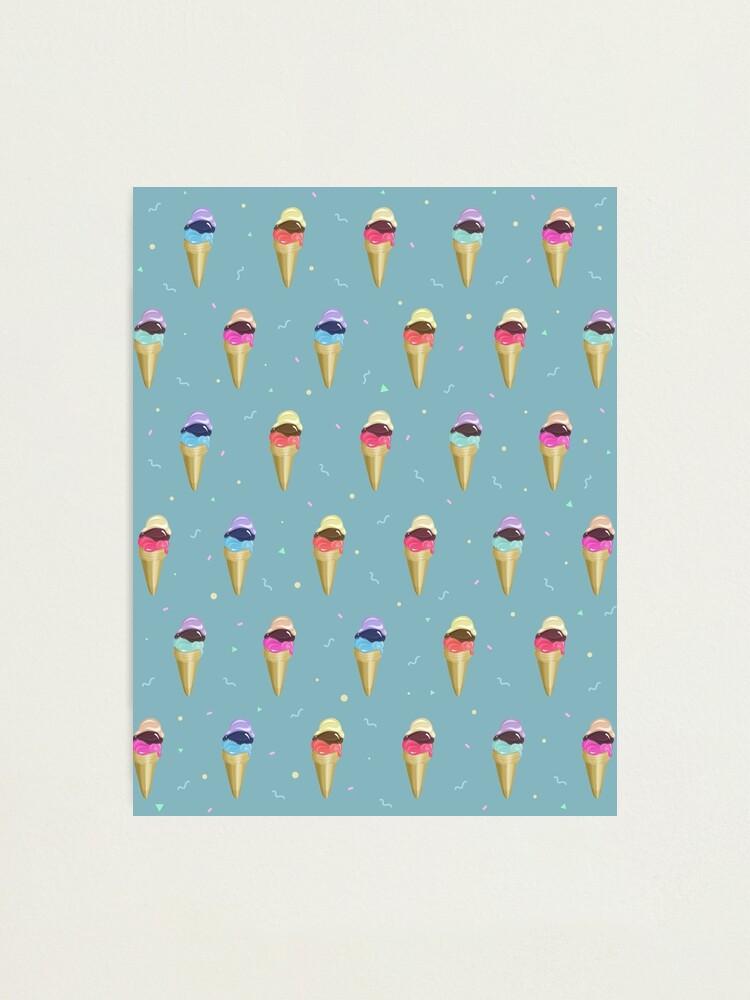 Alternate view of Ice Cream Pattern Photographic Print