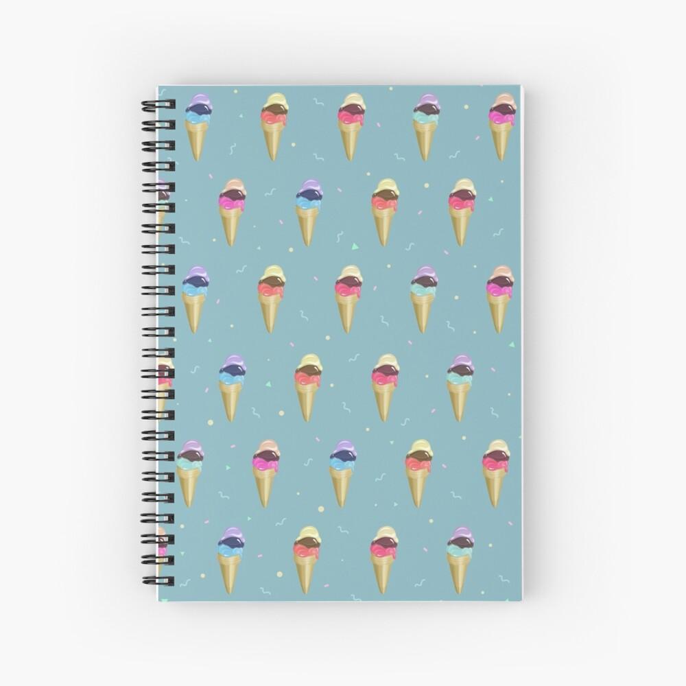 Ice Cream Pattern Spiral Notebook