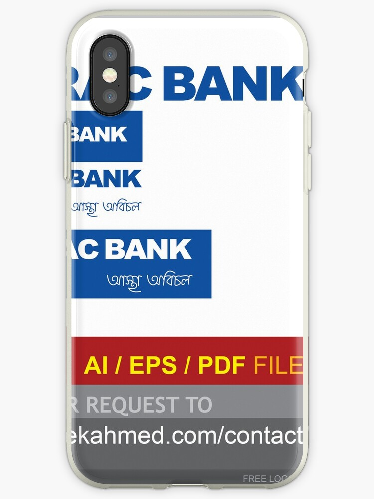 'BRAC BANK logo | free AI/ EPS/PDF File | Just Contact:  http://www sadekahmed com/contact/' iPhone Case by YOUR LOGO