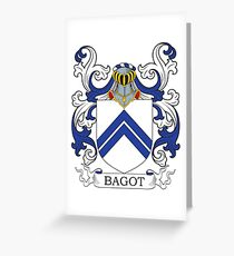 Bagot Coat of Arms Greeting Card