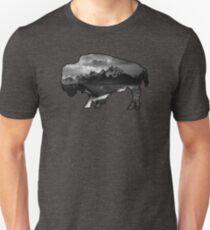 Wyoming Buffalo Tetons Unisex T-Shirt