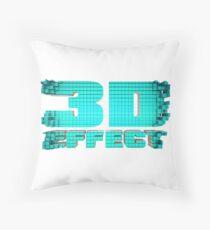 Texto en 3D - color celeste Throw Pillow