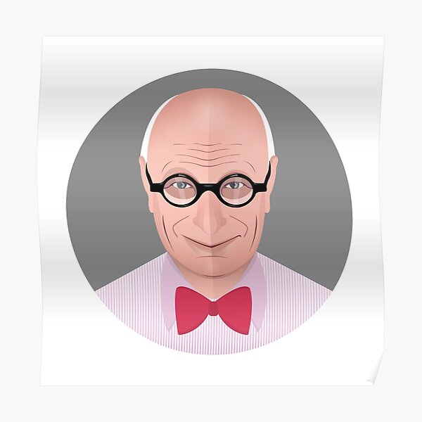 Portrait of Wally Olins Poster