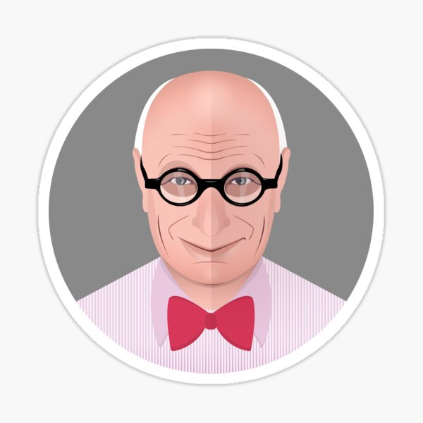 Portrait of Wally Olins Sticker
