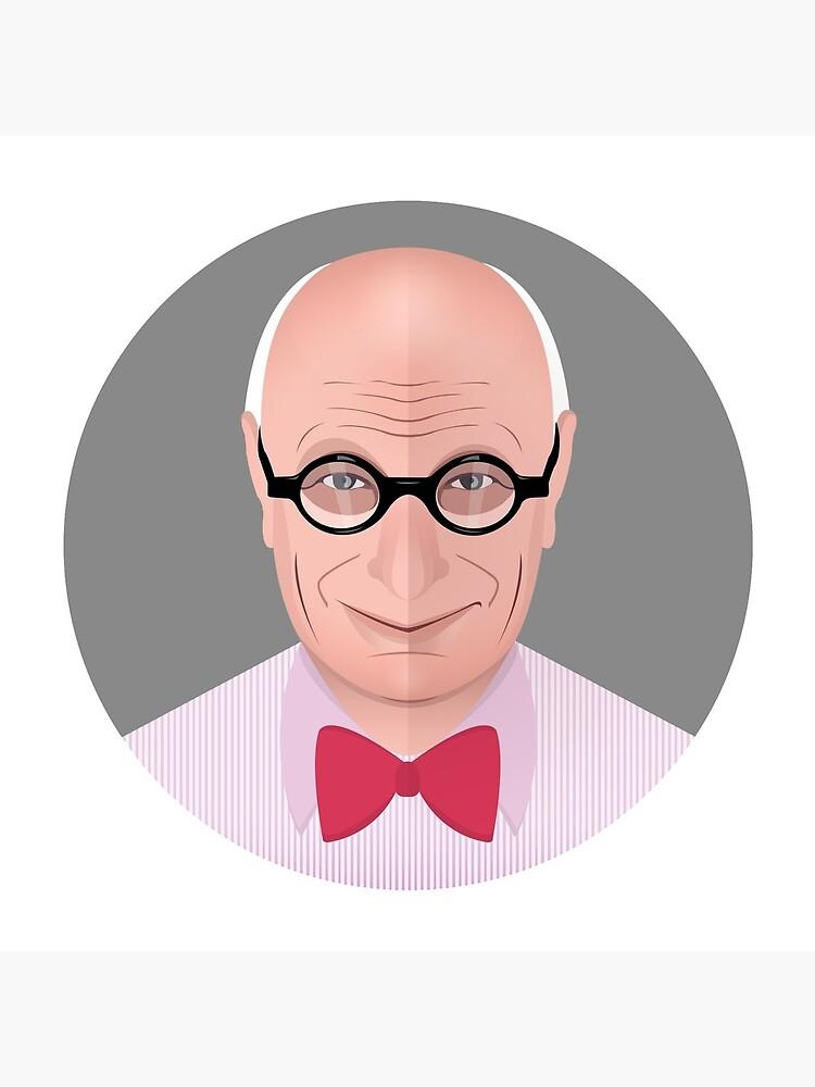 Portrait of Wally Olins by mirunasfia