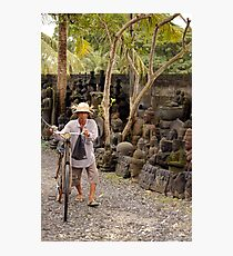 Balinese Cyclist Photographic Print