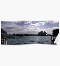 Sydney Opera House Silhouetted Poster