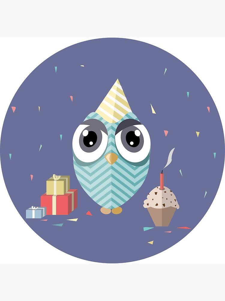 Happy Birthday Owl by mirunasfia
