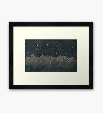 Starlit Mountains Acrylic Framed Print