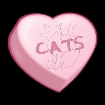 I Love CATS Candy Heart Valentine  by PureCreations