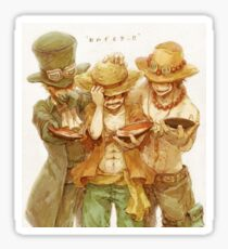 Ace & Sabot & Luffy Sticker