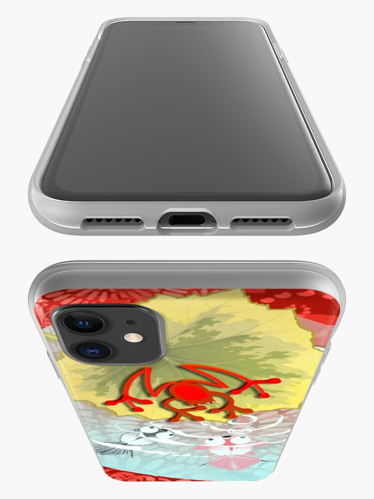 Alternate view of RED FROG - RedFrog in the Kois Pond iPhone Case & Cover
