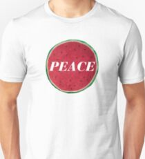 Peace Watermelon and Logo Design  Unisex T-Shirt