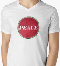 Peace Watermelon and Logo Design  Mens V-Neck T-Shirt