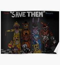 """Five Nights at Freddy's """"Save Them"""" Poster"""