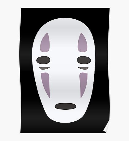Kaonashi (No-Face) - Spirited Away Poster
