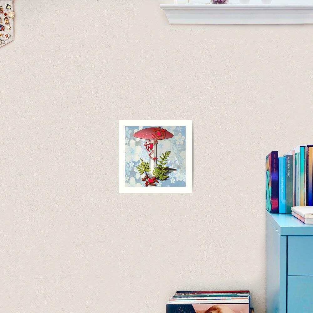 REF FROG - RedFrog and the Mushroom Art Print
