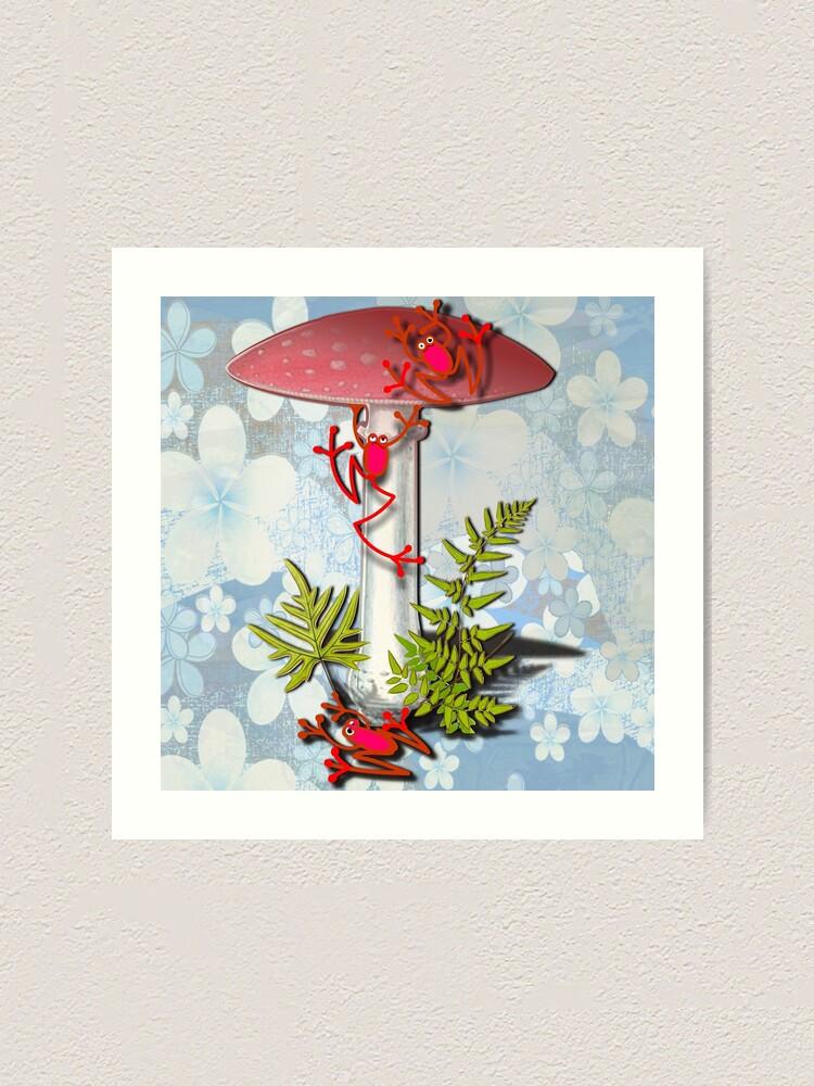 Alternate view of REF FROG - RedFrog and the Mushroom Art Print