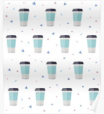 Coffee to go - Pattern Poster