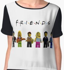 friends parody lego Chiffon Top