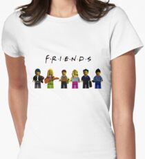 friends parody lego Womens Fitted T-Shirt