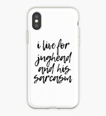 I live for Jughead and his sarcasm iPhone Case