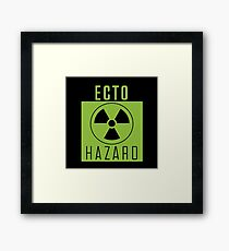 Ghostbusters Warning: Ecto Hazard Framed Print