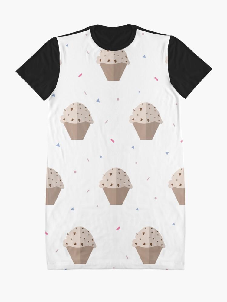 Alternate view of Muffin Pattern Graphic T-Shirt Dress