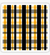 Yellow Gold and Black Plaid Striped Version 1 Sticker