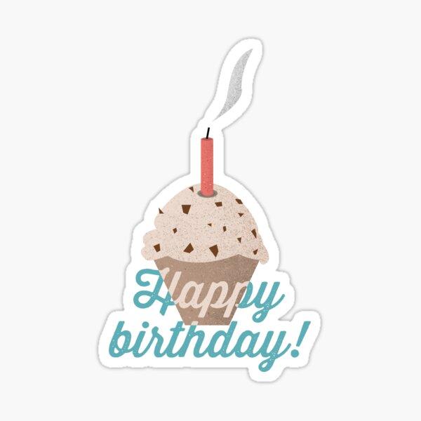 Happy Birthday Muffin Sticker