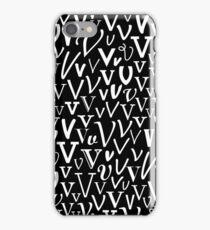V | Typography (Black) iPhone Case/Skin