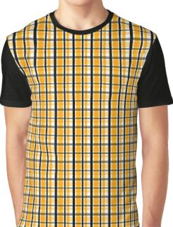 Yellow Gold and Black Plaid Striped Version 2 Graphic T-Shirt