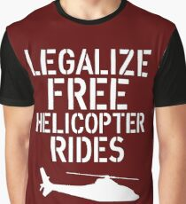 Free Helicopter Rides Graphic T-Shirt