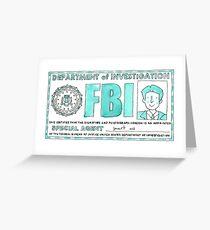 X Files: Fox Mulder Greeting Card