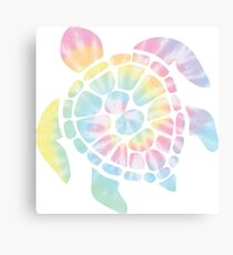 Tie Dye Sea Turtle Canvas Print