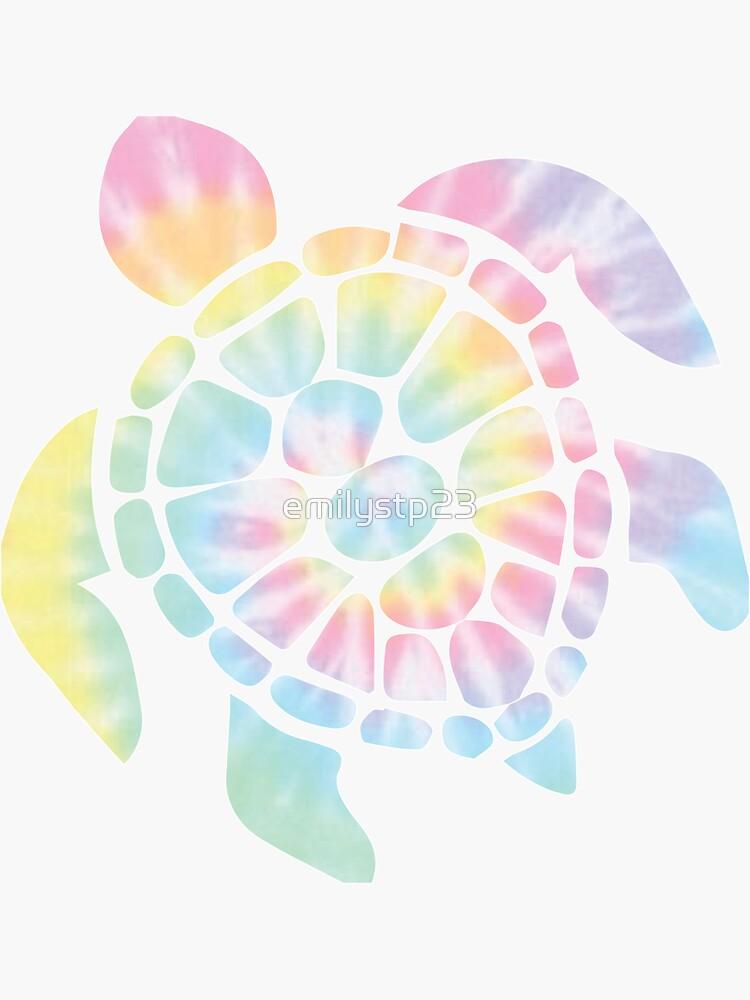 Tie Dye Sea Turtle by emilystp23