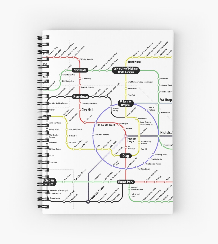 Ann Arbor Subway Map by A2SubwayMap
