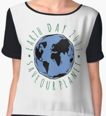 Save Our Planet Earth 2017 Women's Chiffon Top