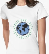 Save Our Planet Earth 2017 Women's Fitted T-Shirt
