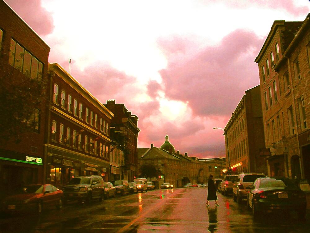 Rainy Downtown Kingston by nikspix