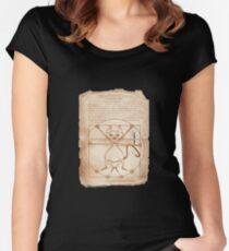 KINKY KITTY - The Kinky Vitruvian Kitty Women's Fitted Scoop T-Shirt
