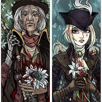 Bloodborne Gehrman & Maria by tindalosmalakia