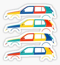 Car silhouette for VW golf mk3 harlequin enthusiasts Sticker