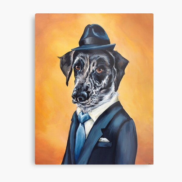 Lafitte, a Dog Of Class Metal Print