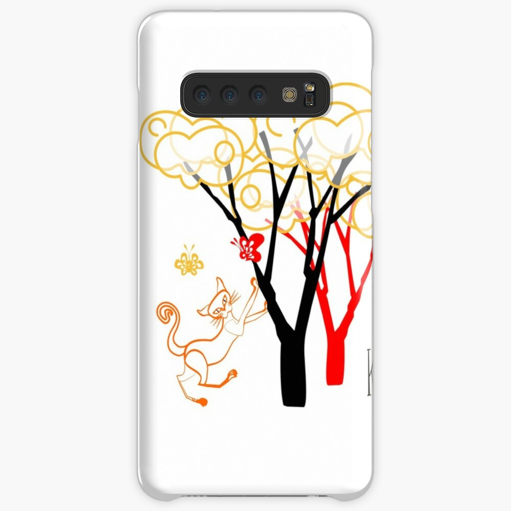 KINKY KITTY - Baby with Butterflies Case & Skin for Samsung Galaxy