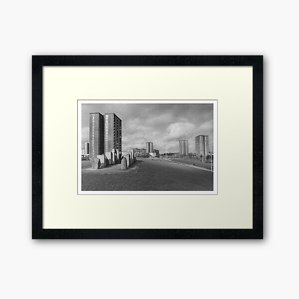 The Flats Framed Art Print