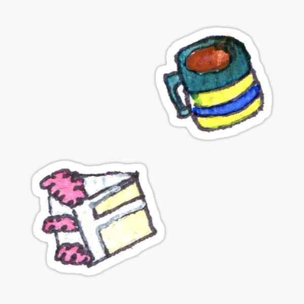 Cake Slice & Misshapen Mug Sticker