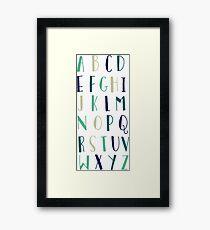 Alphabet Typography Framed Print